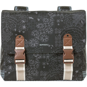 Basil Bohème Double Pannier Bag 35l, charcoal